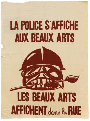 Mima - LA POLICE S'AFFICHE AUX BEAUX-ARTS